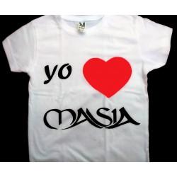 Camiseta I LOVE Masia